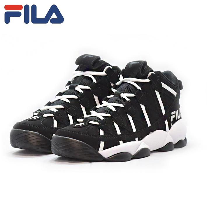 FILA(フィラ) SPAGHETTI F0206 0019 BLACK-WHITE ブラックホワイト MENS スパゲティー バスケット