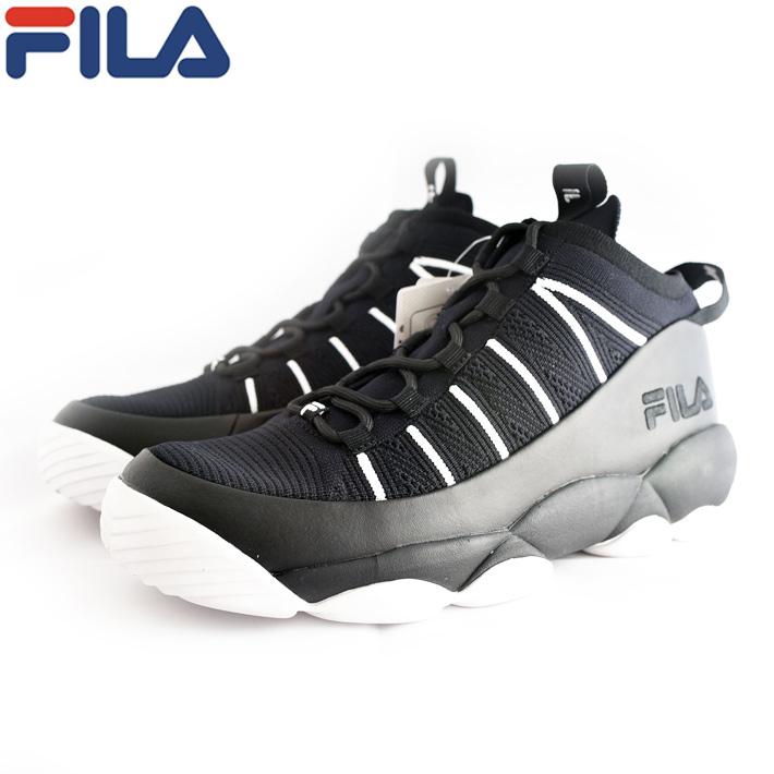 FILA(フィラ) SPAGHETTI KNIT スパゲティニット メンズスニーカー 2018SS 春夏 ブラック/ブラック/ホワイト バスケットシューズ F01720013