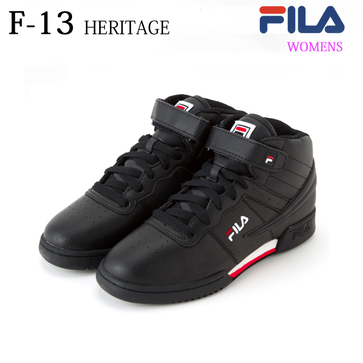 FILA(フィラ) WOMENS F-13 FHE143 [BLK/WHT/FRED][バスケ][バッシュ][カジュアル][ストリート][復刻]