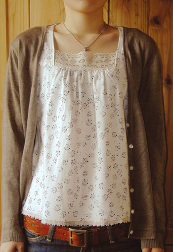 ★Tank top paper pattern with abolished turn pattern SALE ★ 30%OFF ★ lace