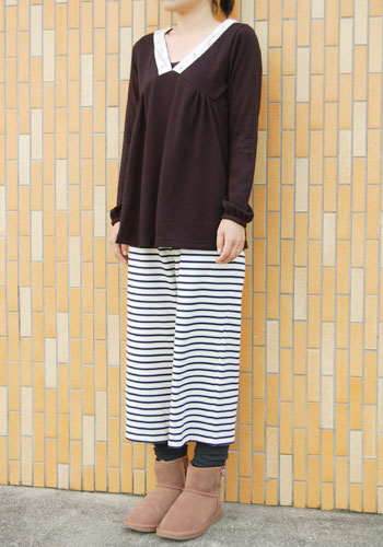 Knit culotte pants pattern