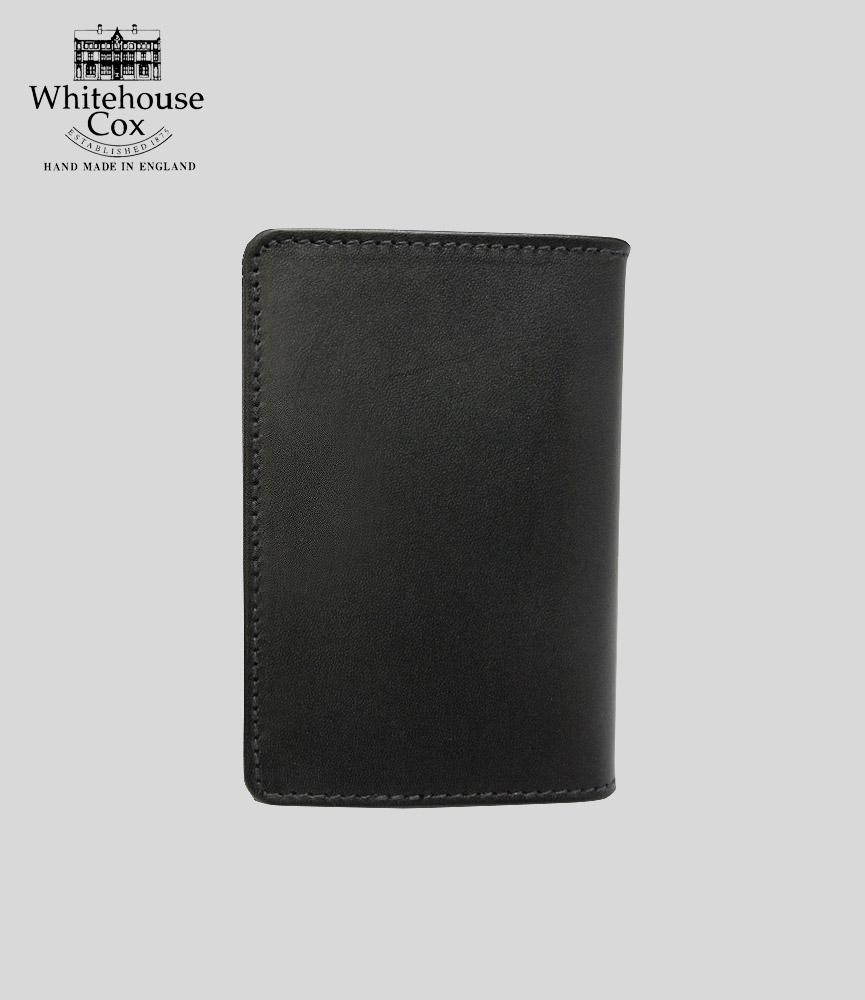 ホワイトハウスコックス おすすめ特集 ダービーコレクション 名刺入れ ブラック タン WhitehouseCox S7412 BLACK DERBY CASE 年間定番 CARD TAN NAME