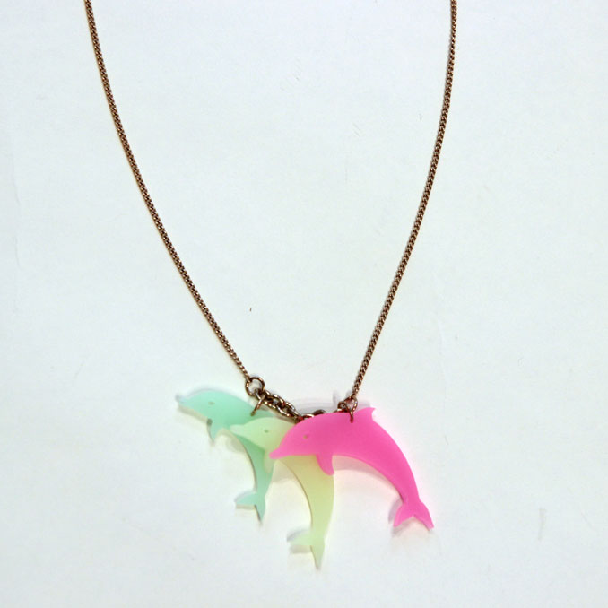 fill store tatty devine tatty divine dolphin necklace necklace