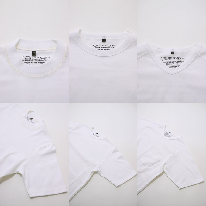 Nigel Cabourn (Nigel Kay Bonn) 3-PACK GYM TEE White 3 pack gym T-shirt