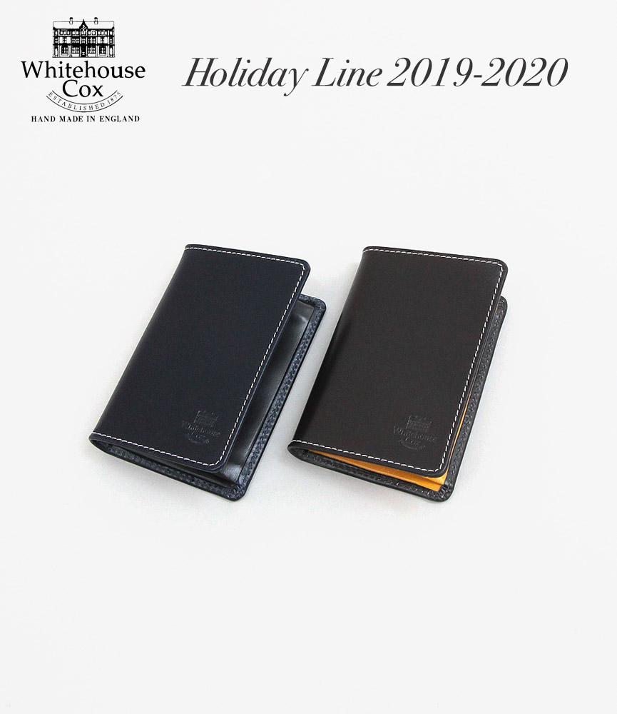 ホワイトハウスコックス ホリデーライン 2019AW新色 名刺入れ Whitehouse Cox S7412 NAME CARD CASE Holiday Line 2019