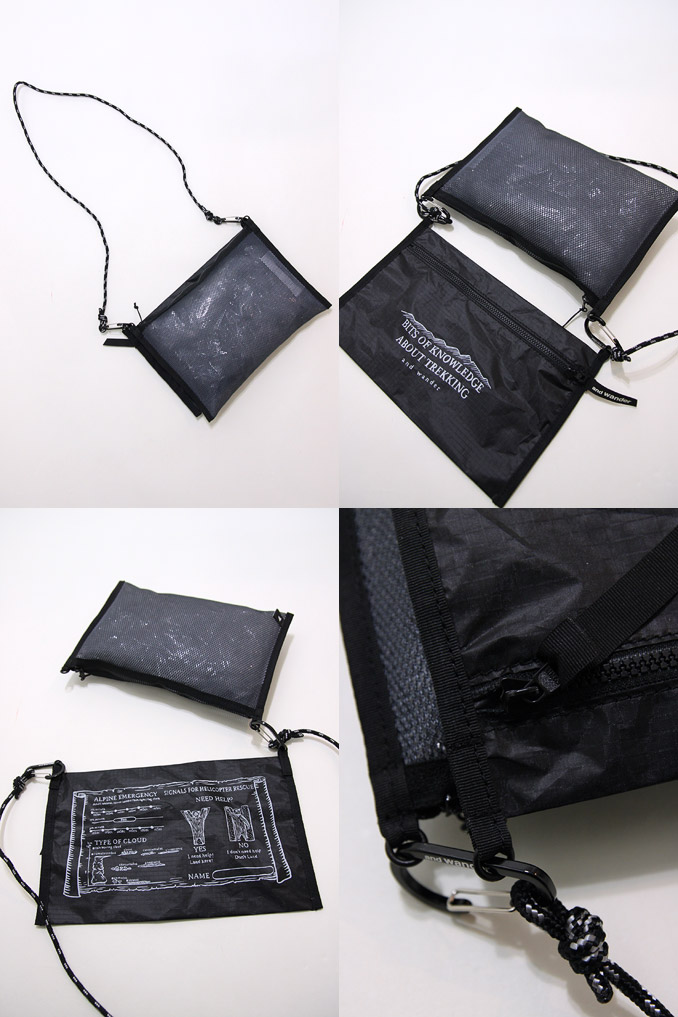 and wander(和万德)Twin Pouch Set Black双床房门