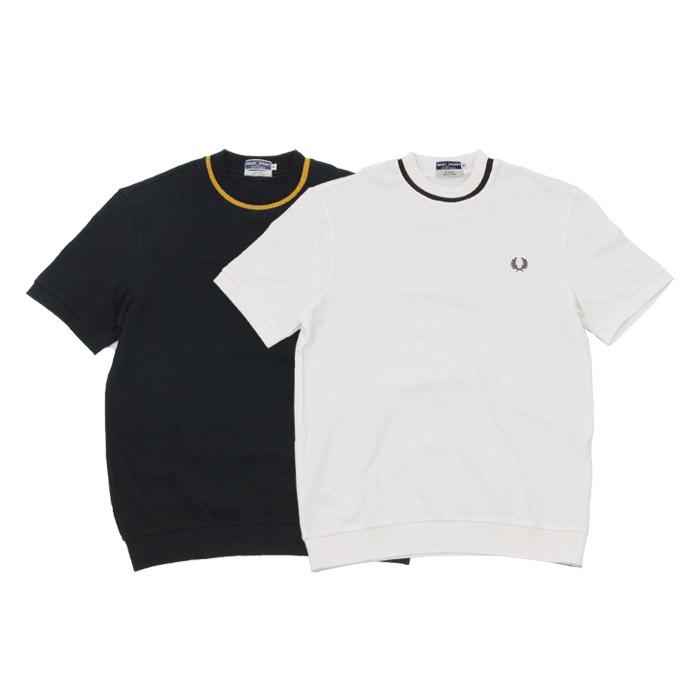 フレッドペリー クルーネックピケTシャツ FRED PERRY 2color