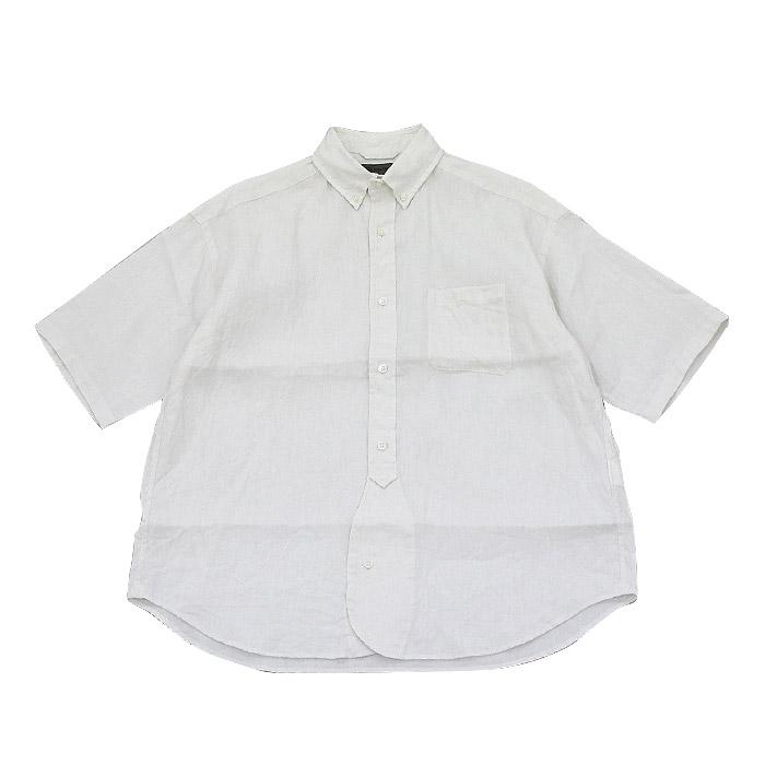 ナイジェルケーボン ワイドショートスリーブシャツ リネン Nigel Cabourn Off White