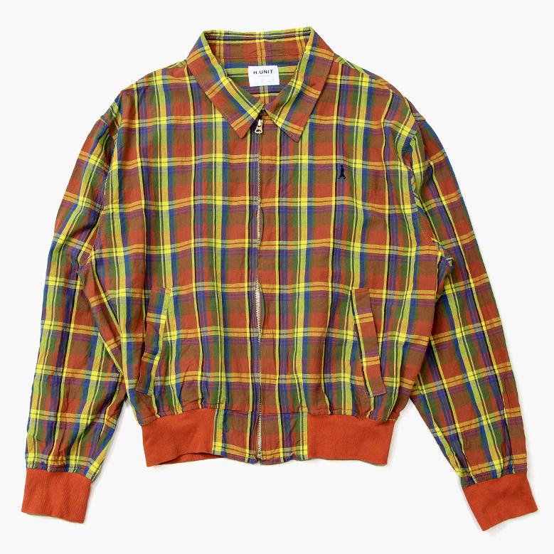 エイチユニット ドリズラージャケット H.UNIT Madras Check Dorizzler Jacket
