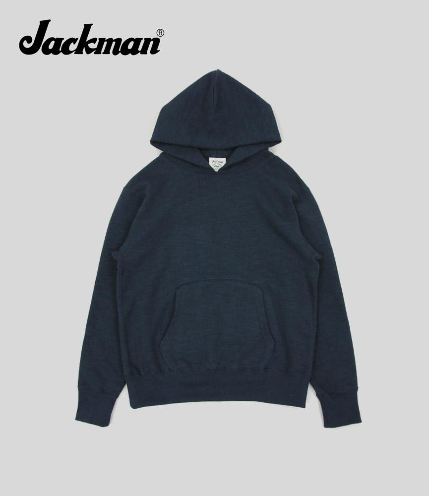 ジャックマン ガラガラスウェットパーカ Jackman GG Sweat Parka JM7807 Navy