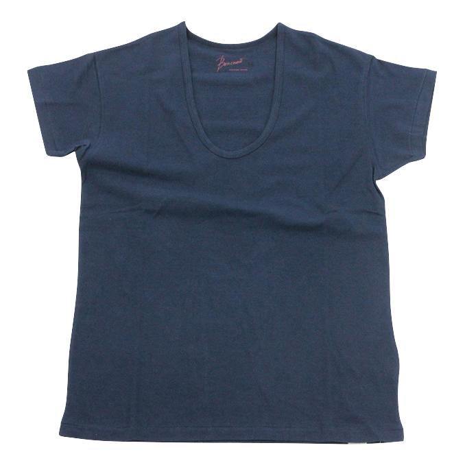ボンクラ UネックTシャツ Boncoura Navy
