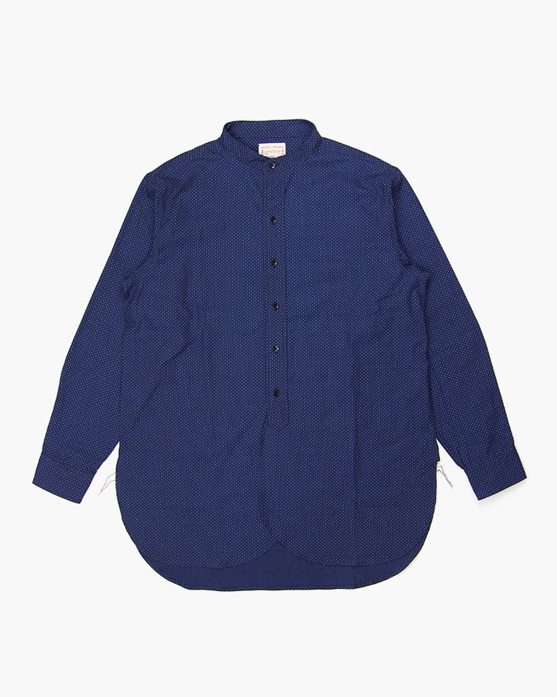 贈り物 ボンクラ バンドカラーシャツ ドット抜染 売店 BONCOURA Collar Shirt Band
