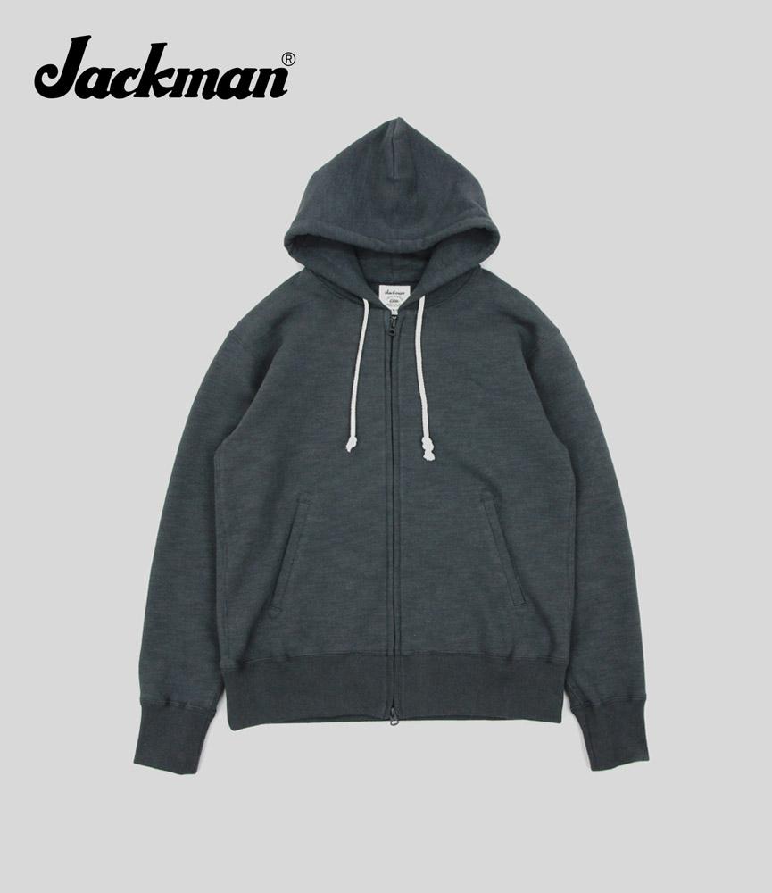 ジャックマン スウェットジップアップパーカ Jackman GG Sweat Parka JM7873 Sumikuro
