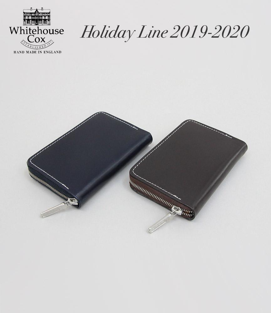 ホワイトハウスコックス ホリデーライン 2019AW新色 ミニジップパース Whitehouse Cox S1941 MINI ZIP PURSE Holiday Line 2019