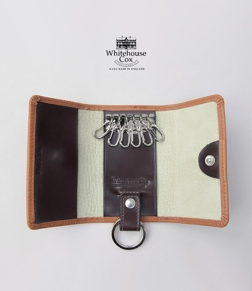 ホワイトハウスコックス キーケース タン/ハバナ ロンドンカーフ キーケースウィズリング S9692 Whitehouse Cox LONDON CALF TAN/HAVANA