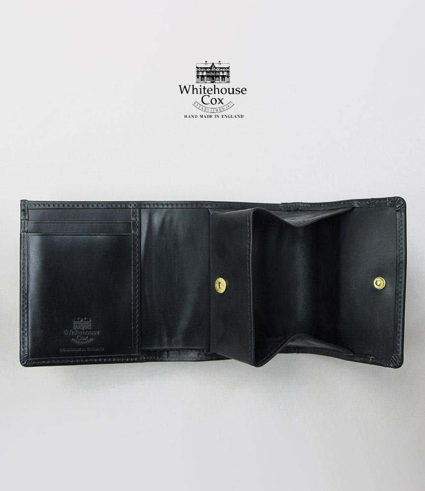 ホワイトハウスコックス コンパクトウォレット ブラック WhitehouseCox S1975 COMPACT WALLET BLACK