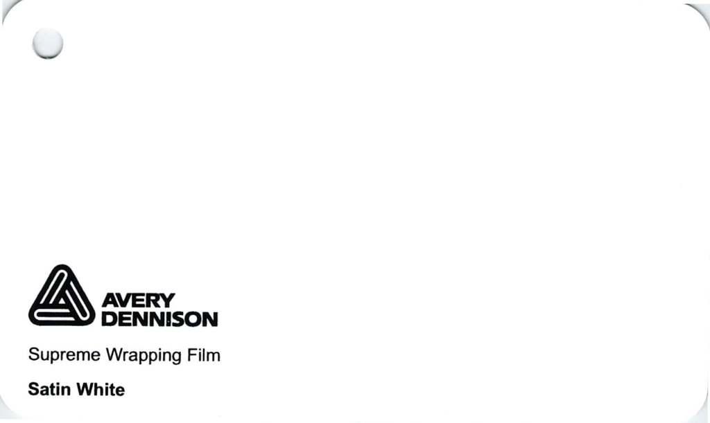 【23・24日は全品P3倍】エイブリィ デニソン カーラッピングシート カーラッピングフィルム  Supreme Wrapping Film(サテンホワイト) 152cm巾×1m 切り売り 販売 avery dennison  カッティングシート  フリーカット 車 SSL-CW