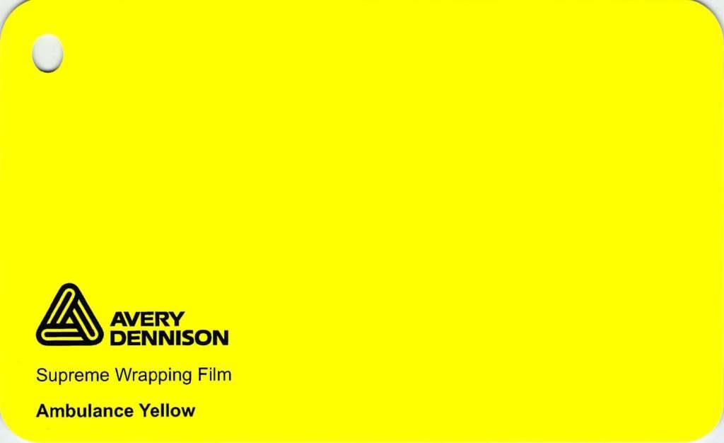 【23・24日は全品P3倍】エイブリィ デニソン カーラッピングシート カーラッピングフィルム  Supreme Wrapping Film(アンビュランスイエロー)152cm巾x1m 切り売り 販売 avery dennison  カッティングシート 外装 フリーカット 車 SSL-CW