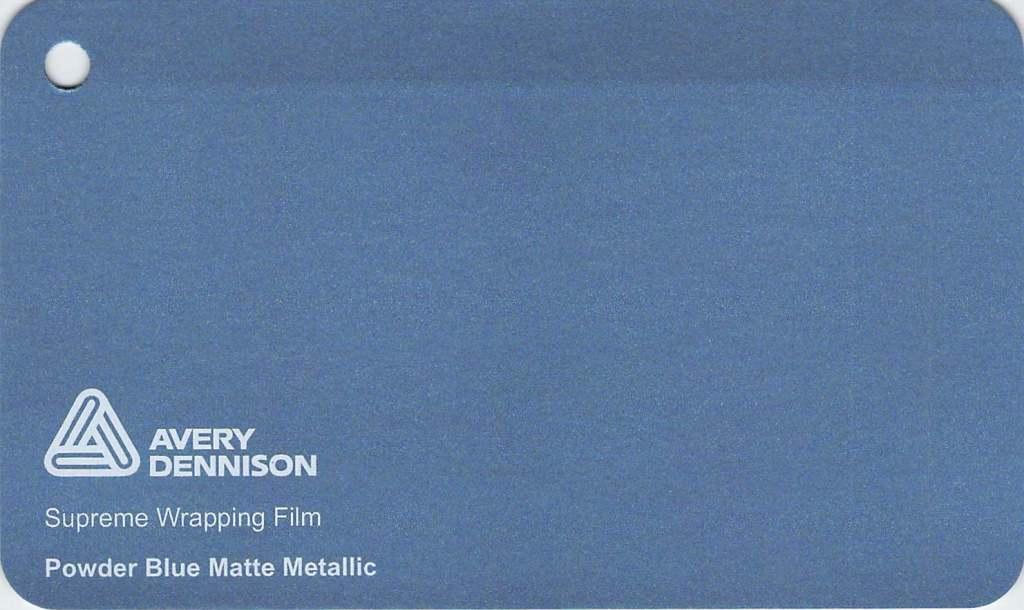 【クーポンでさらにお得!25,26日P5倍】エイブリィ デニソン カーラッピングシート カーラッピングフィルム Supreme Wrapping Film(マットメタリックパウダーブルー)152cm巾×1m 切り売り 販売 avery dennison  カッティングシート フリーカット 車 SSL-CW
