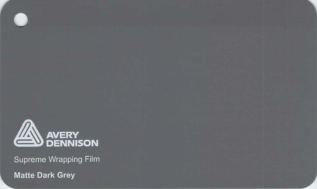 【23・24日は全品P3倍】エイブリィ デニソン カーラッピングシート カーラッピングフィルム  Supreme Wrapping Film (マットダークグレー) 152cm巾×1m 切り売り 販売 avery dennison  カッティングシート 外装 フリーカット 車 SSL-CW