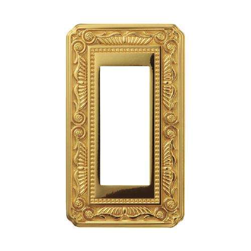 スガツネ フィレンツェ スイッチ コンセント プレート ブライト ゴールド【メーカー直送】※送料はメールにてご連絡します。