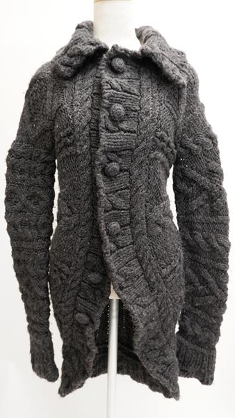 tricot COMME des GARCONSトリココムデギャルソン 手編みハンドニットコート LKNA61805 市販 購買 DM201114 表記なし 2点以上同時購入で送料無料 グレー 中古