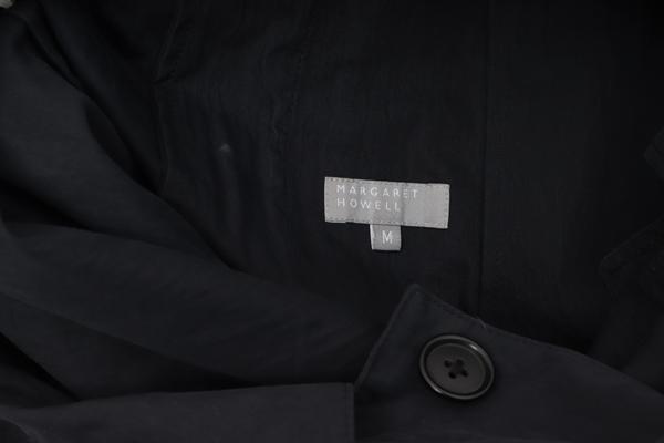 6月4日に値下げ MARGARET HOWELLマーガレットハウエル ステンカラースプリングコート MCTA55513ブラック 墨黒M2点以上同時購入で送料無料DM190410tshdrxCBQ