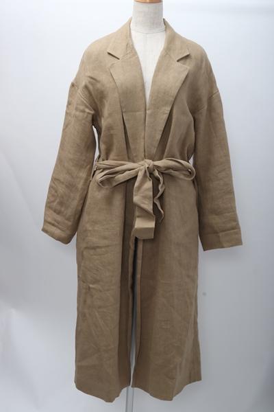 【4月18日に値下げ】LisiereアパルトモンL'Appartement 2017SS Linen Robe Coatリネンローブコート【LCTA57516】【ベージュ】【フリー】【中古】【2点以上同時購入で送料無料】【DM190921】