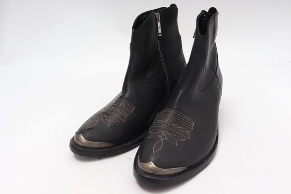ゴールデングースGOLDEN GOOSE ドゥーズィエムクラス購入ショートウエスタン ブーツ未使用品【LFWA59417】【ブラック】【37】【未使用】【2点以上同時購入で送料無料】【DM200229】