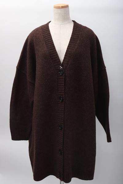 Acne Studiosアクネ ストゥディオズ L'Appartementアパルトモン購入2020SS Knit Cardiganニットカーディガン新品【LKNA59621】【ブラウン】【XXS/XS】【未使用】【2点以上同時購入で送料無料】【DM200318】