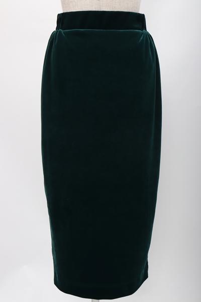 【2月1日に値下げ】MUSE de DeuxiemeClasseドゥーズィエムクラス 2019ベロアタイトスカート【LSKA57921】【グリーン】【36】【中古】【2点以上同時購入で送料無料】【DM191109】