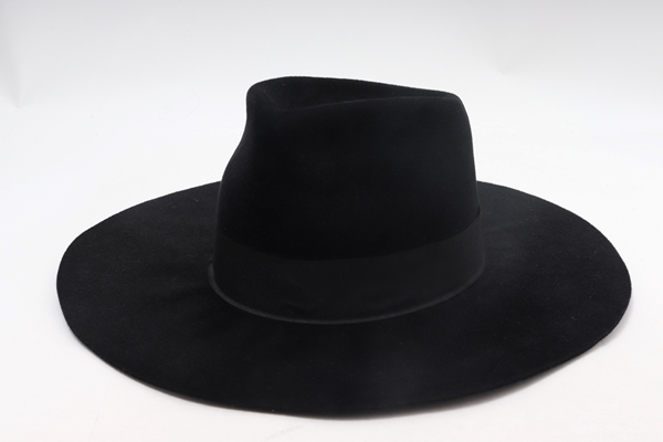 レナードプランクREINHARD PLANK ラビットファーベロアNANAワイドブリムハット新品【LHWA59038】【ブラック】【L】【未使用】【2点以上同時購入で送料無料】【DM200205】