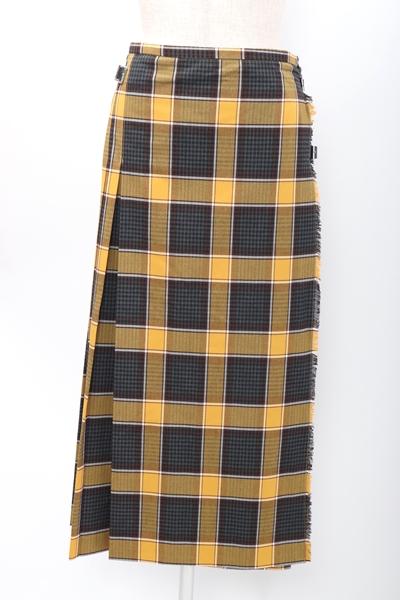 SLOBE IENAスローブ イエナ 2019AWチェックキルトスカート【LSKA58940】【イエロー】【38】【中古】【2点以上同時購入で送料無料】【DM200118】