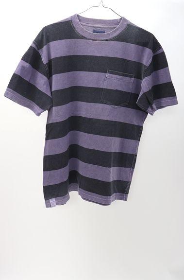 DESCENDANTディセンダント 2018SS CACHALOT/BORDER SSボーダーTシャツ【MTSA50140】【パープル】【3】【中古】【2点以上同時購入で送料無料】【DM180912】