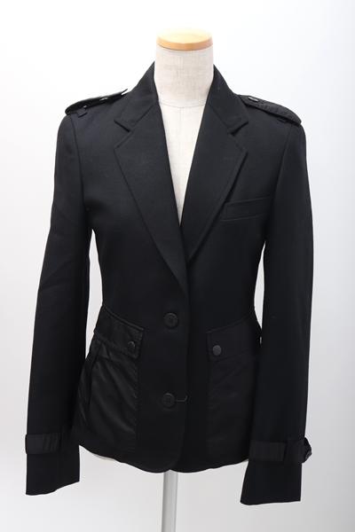2月1日に値下げ BURBERRY LONDONバーバリーロンドン エポレット付きウールジャケット LJKA57548ブラn80NwmvO