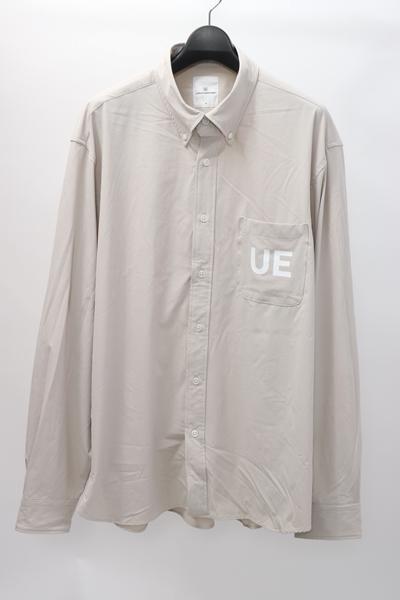 【10月17日に値下げ】uniform experimentユニフォームエクスペリメント 2020SS NUMBERING SEAM POCKET B.D SHIRTナンバリングセームポケットボタンダウンシャツ【LSHA60048】【ベージュ】【4】【中古】【2点以上同時購入で送料無料】【DM200520】