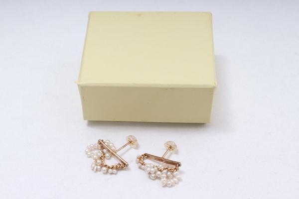 Drop ドロップパールピアス【LACA61249】【ゴールド/パール】【-】【中古】【2点以上同時購入で送料無料】【DM201010】 Piercingセットパールピアス shuoシュオ Pearl