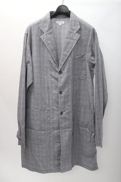 【10月17日に値下げ】エンジニアードガーメンツEngineered Garments 2017SS Lab Shirt-Glen Plaidグレンチェック薄手スプリングコート【MCTA56361】【グレー】【L】【中古】【2点以上同時購入で送料無料】【DM190518】