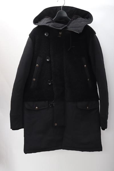 【スーパーSALE期間中ポイント5倍!!】Birvin Uniform N-3Bミリタリーコート【MCTA58981】【ブラック】【-】【中古】【2点以上同時購入で送料無料】【DM200124】