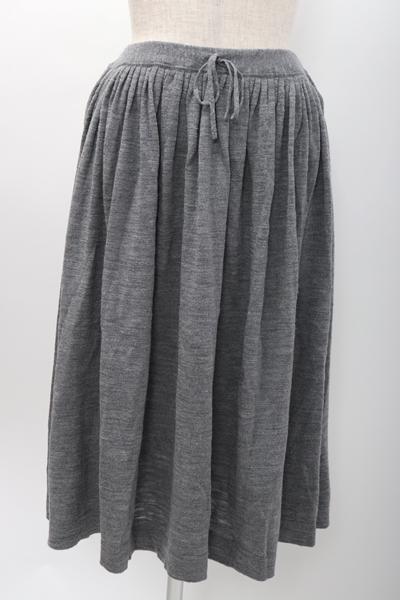 【2月1日に値下げ】45R(45rpm 45アールピーエム) ウールニットギャザースカート【LSKA57692】【グレー】【2】【中古】【2点以上同時購入で送料無料】【DM191005】