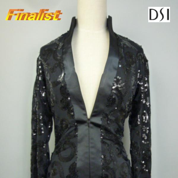 社交ダンス ダンスウエアー 社交ダンス衣装 送料無料 メンズ ラテンシャツ DSI Danny Black Sequins omega4020