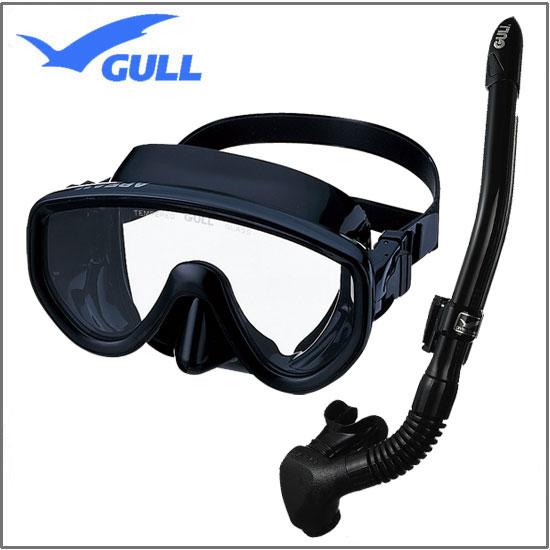 GULL軽器材2点セット アビーム ABEAM マスク カナール/レイラステイブル スノーケル 男性/女性 向けセット ダイビング シュノーケリング  むせにくいので スノーケルクリアや水面移動が楽