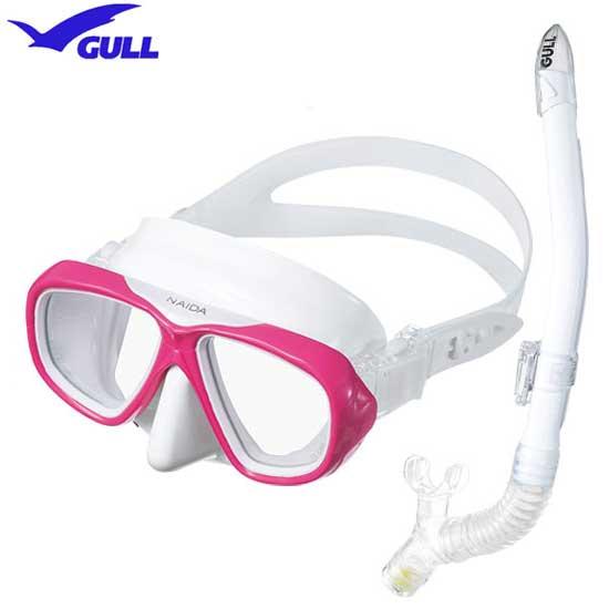 2019 GULL(ガル) 軽器材2点セット  ネイダ マスク レイラドライSP スノーケル 人気 女性 向けセット UVレンズ 紫外線対策 ダイビング シュノーケリング 近視の方 度付きレンズ対応  安心の日本製 madeinjapan