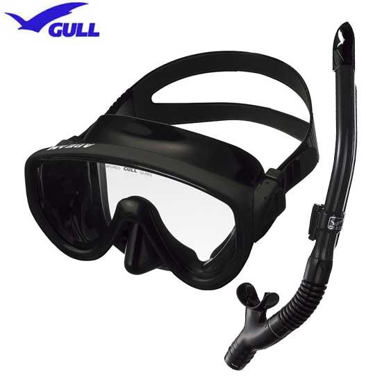 超激安特価 ガル 一眼マスクの2点セット ダイビング マスク 1眼 セット GULL 軽器材2点セット カナールドライSP シュノーケリング 女性 アビーム 送料無料 スノーケル男性 お値打ち価格で レイラドライ