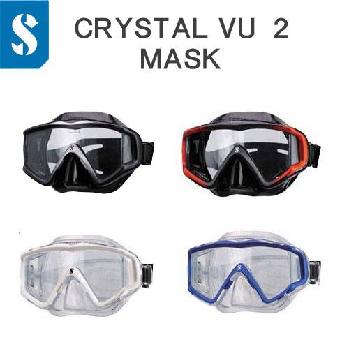 スキューバプロ(Sプロ) クリスタルビュー マスク ワイドな視界 1眼 ダイビングマスク CRYSTAL VU MASK ダイビング 軽器材 ●ランキング人気商品●