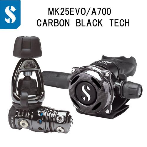 スキューバプロ(Sプロ) MK25 EVO/A700 CARBON BLACK TECH カーボンブラックテック マーク25レギュレーター 屈強なフルメタルボディ ダイビング 重器材 【送料無料】 12.770.700