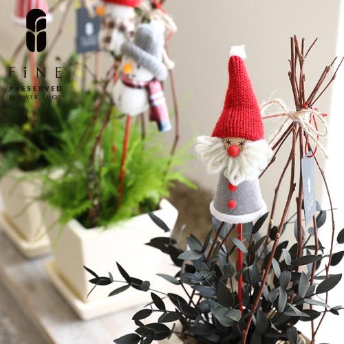 クリスマスディスプレイを盛り上げるクリスマス雑貨 ふわふわピック2P CM1091 15時までのご注文であす楽 クリスマス雑貨 クリスマス ピック インテリア フラワーピック 北欧 かわいい 購買 スノーマン サンタクロース 子供 店舗装飾 市場