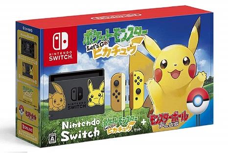 【あす楽】11/16発売 Nintendo Switch ポケットモンスターLet's Go! ピカチュウセット (モンスターボール Plus付き)  任天堂 ポケモン 4902370540529 (※沖縄県、離島は送料別途+500円がかかります)