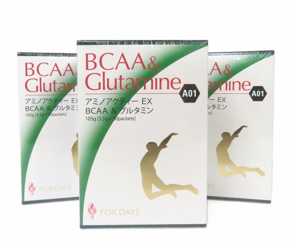 【3箱セット】フォーデイズ アミノアクティーEX BCAA&グルタミン マスカット味 賞味期限2019年9月以降