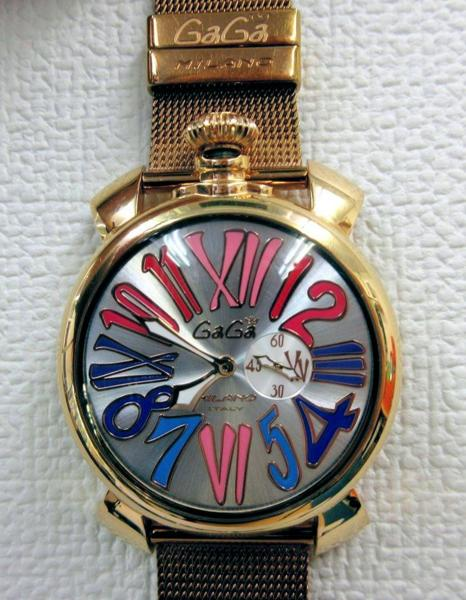 【中古】ガガ ミラノ/Gaga MILANO スリム 46mm 5081.1 腕時計